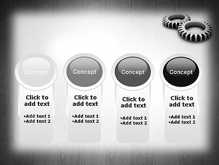 Interlocking Gears PowerPoint Template Slide 5