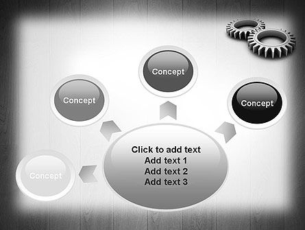 Interlocking Gears PowerPoint Template Slide 7