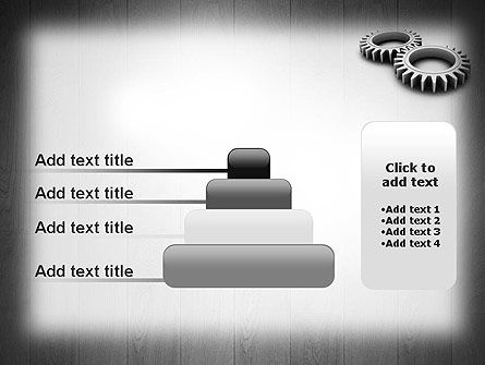 Interlocking Gears PowerPoint Template Slide 8