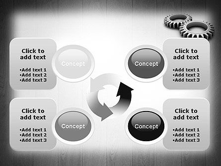 Interlocking Gears PowerPoint Template Slide 9