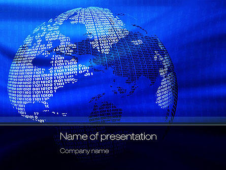 Digital Globe PowerPoint Template, 10793, Global — PoweredTemplate.com