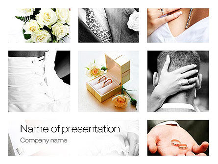 Holiday/Special Occasion: Wedding Moments PowerPoint Template #10794