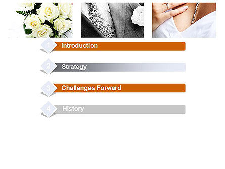 Wedding Moments PowerPoint Template, Slide 3, 10794, Holiday/Special Occasion — PoweredTemplate.com