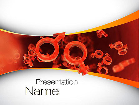 Sex Cells PowerPoint Template, 10795, Medical — PoweredTemplate.com