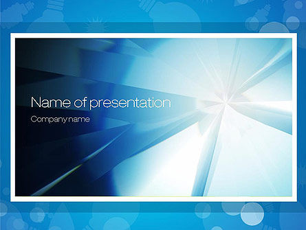 Abstract/Textures: Business Theme in Blue PowerPoint Template #10796