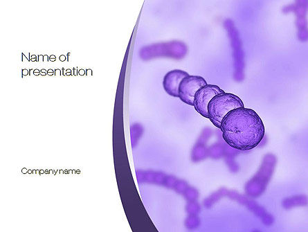 Streptococcus PowerPoint Template, 10798, Medical — PoweredTemplate.com