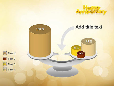 Happy Anniversary in Yellow PowerPoint Template Slide 10