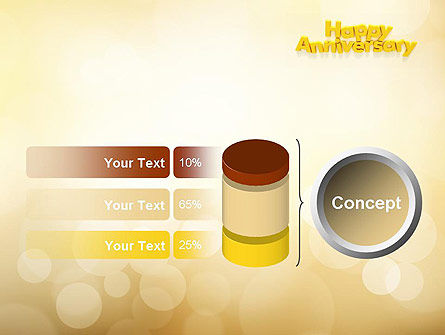 Happy Anniversary in Yellow PowerPoint Template Slide 11