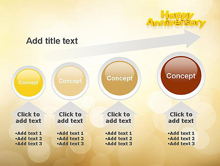 Happy Anniversary in Yellow PowerPoint Template Slide 13
