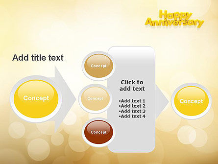 Happy Anniversary in Yellow PowerPoint Template Slide 17