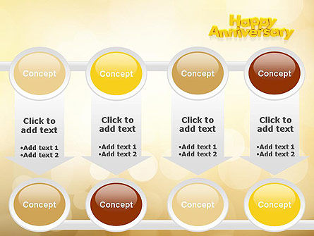 Happy Anniversary in Yellow PowerPoint Template Slide 18