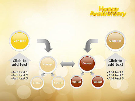 Happy Anniversary in Yellow PowerPoint Template Slide 19