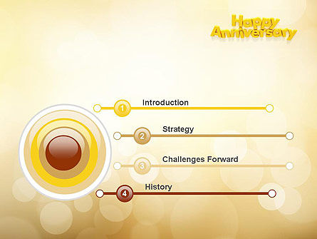 Happy Anniversary in Yellow PowerPoint Template, Slide 3, 10799, Holiday/Special Occasion — PoweredTemplate.com