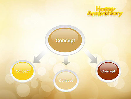 Happy Anniversary in Yellow PowerPoint Template, Slide 4, 10799, Holiday/Special Occasion — PoweredTemplate.com