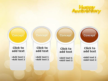 Happy Anniversary in Yellow PowerPoint Template Slide 5