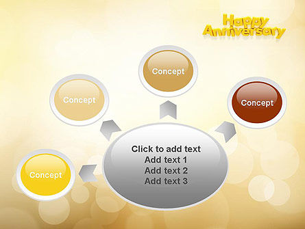 Happy Anniversary in Yellow PowerPoint Template Slide 7