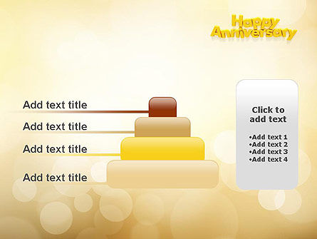 Happy Anniversary in Yellow PowerPoint Template Slide 8