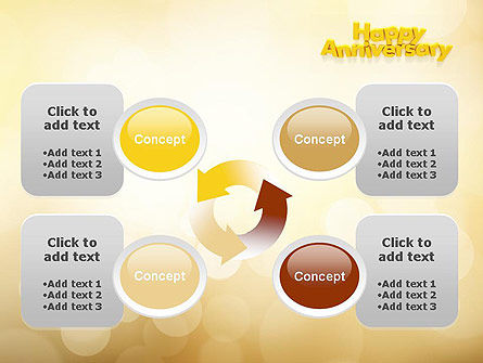 Happy Anniversary in Yellow PowerPoint Template Slide 9