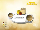 Happy Anniversary in Yellow PowerPoint Template#16