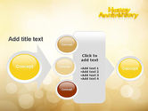 Happy Anniversary in Yellow PowerPoint Template#17