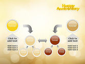 Happy Anniversary in Yellow PowerPoint Template#19