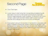 Happy Anniversary in Yellow PowerPoint Template#2