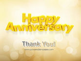 Happy Anniversary in Yellow PowerPoint Template#20