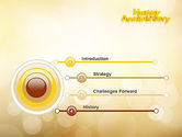 Happy Anniversary in Yellow PowerPoint Template#3