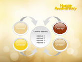 Happy Anniversary in Yellow PowerPoint Template#6
