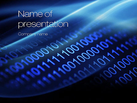 Digital Bitstream PowerPoint Template, 10800, Technology and Science — PoweredTemplate.com