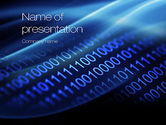 Technology and Science: Digital Bitstream PowerPoint Template #10800