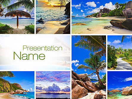 Seychelles PowerPoint Template, 10802, Nature & Environment — PoweredTemplate.com