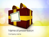 Holiday/Special Occasion: Red Gift Box PowerPoint Template #10803