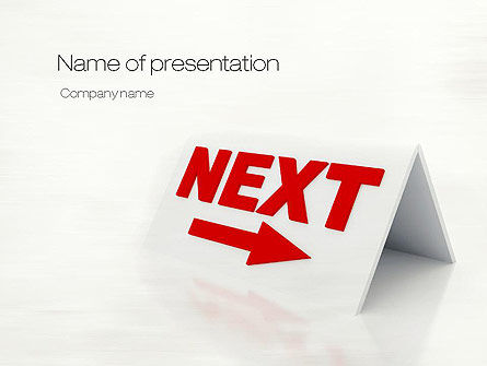 Business Concepts: Sign Next PowerPoint Template #10804