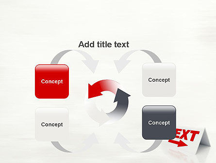 Sign Next PowerPoint Template Slide 6