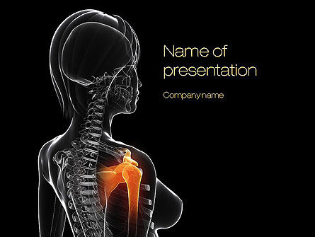 Medical: Shoulder Pain PowerPoint Template #10805