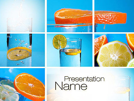Food & Beverage: Templat PowerPoint Kolase Lemon Dan Jeruk #10806