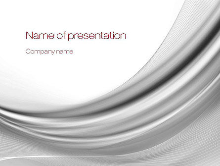 Gray Curves PowerPoint Template, 10807, Abstract/Textures — PoweredTemplate.com