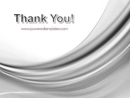 Gray Curves PowerPoint Template Slide 20