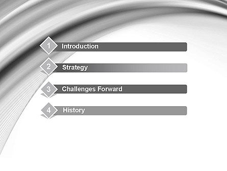 Gray Curves PowerPoint Template Slide 3