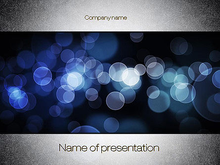 Abstract/Textures: Blue Spots PowerPoint Template #10810