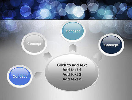 Blue Spots PowerPoint Template Slide 7