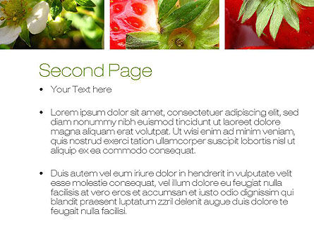 Strawberries Collage PowerPoint Template Slide 2