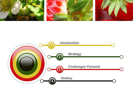 Strawberries Collage PowerPoint Template Slide 3