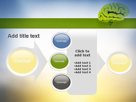 Cerebral Cortex PowerPoint Template Slide 17