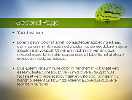 Cerebral Cortex PowerPoint Template Slide 2
