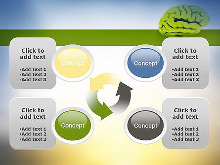 Cerebral Cortex PowerPoint Template Slide 9