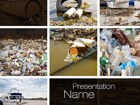 Nature & Environment: Pollution of Water PowerPoint Template #10816