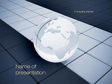 Global: Templat PowerPoint Glossy Transparent Globe #10817