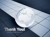 Glossy Transparent Globe PowerPoint Template#20